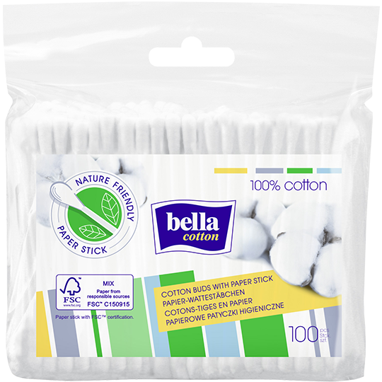 Bella Cotton paper-stick buds