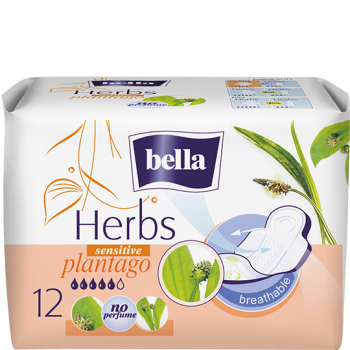 Bella Herbs sanitary pads with narrowleaf plantain