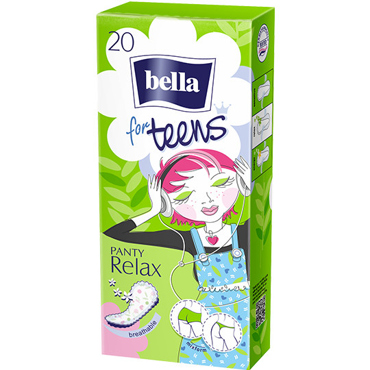 Bella for Teens Relax pantyliners