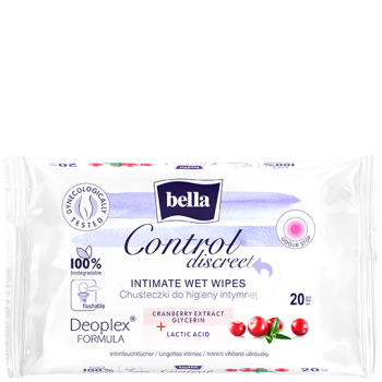 Bella Control Discreet intimate wet wipes
