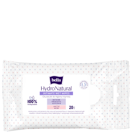 Bella HydroNatural intimate wet wipes