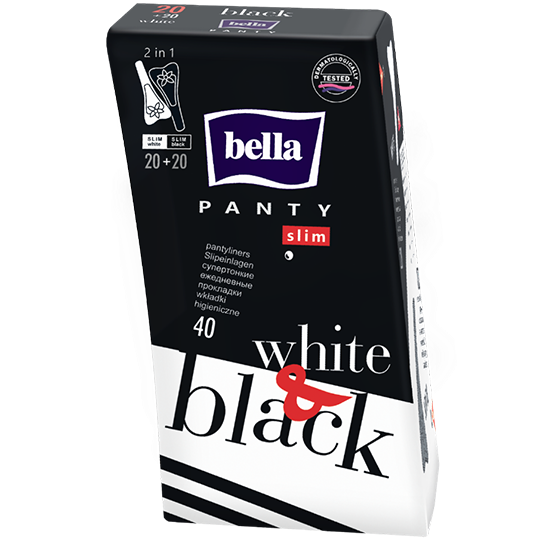 bella Panty Slim Black&White